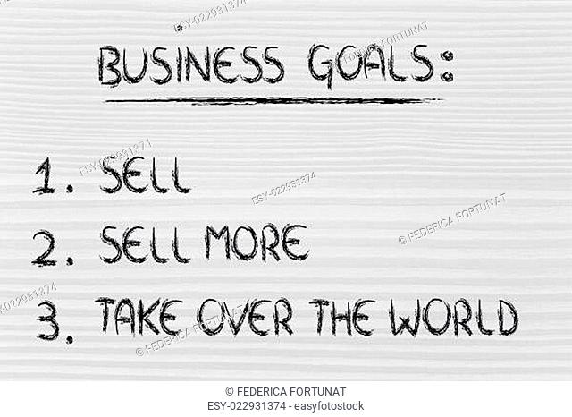 funny list of business goals