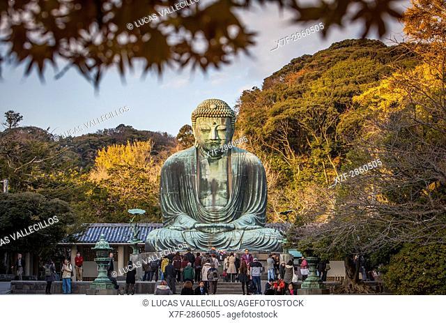 The Daibutsu (bronze Great Buddha). Kotoku-in Temple, Kamakura, Japan