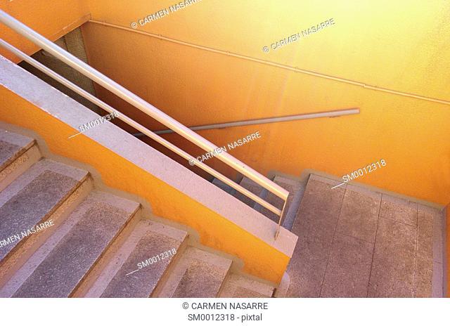 Staircase to underground parking