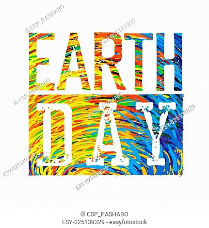 Earth Day Colorful Logotype Design