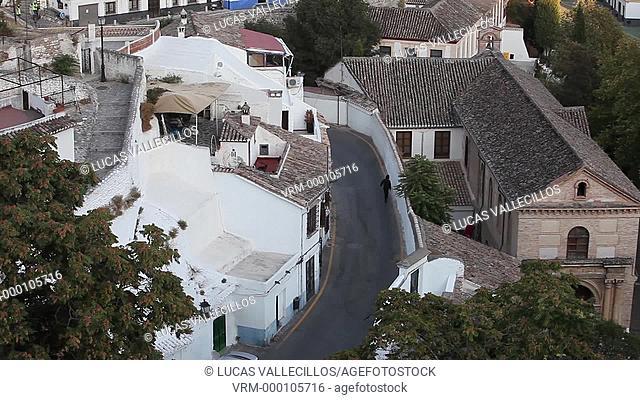 View of Sacromonte quarter, Granada Andalusia, Spain
