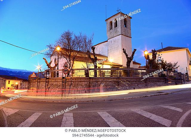 Church of Santa Maria del Castillo in Canencia, Madrid, Spain