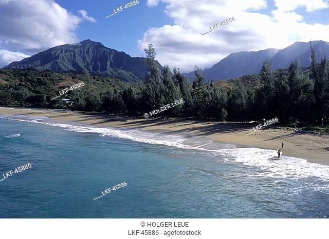 Kee Beach, Haena State Park, Kauai, Hawaii, USA