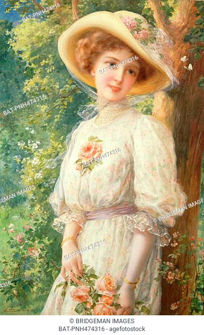 Mlle Printemps, 1910 (oil on canvas), Vernon, Emile (1872-1919) / Private Collection / Photo © Peter Nahum at The Leicester Galleries, London / Bridgeman Images