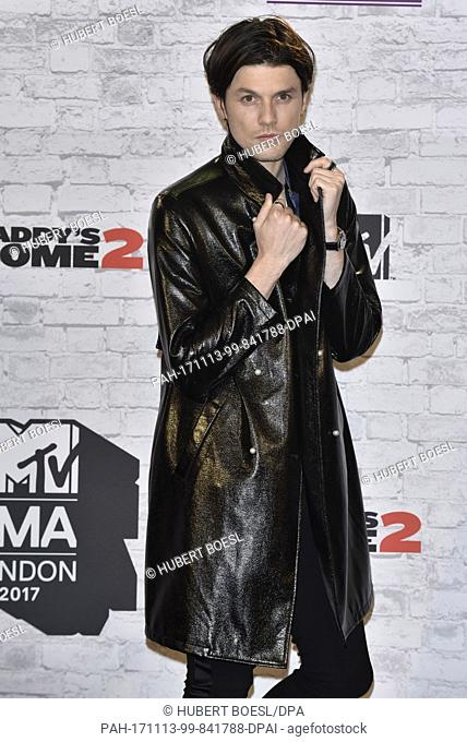 f0b58270f60 James Bay poses in the winner s photo room of the 2017 MTV Europe Music  Awards