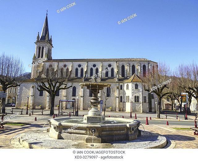 Saint Hilaire Church, Castelmoron-sur-Lot, Lot-et-Garonne Department, Nouvelle Aquitaine, France