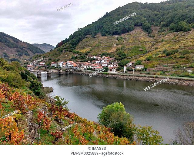 Belesar village, Chantada municipality, Ribeira Sacra, Lugo, Spain