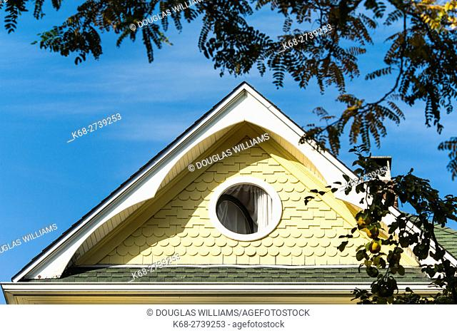 gable of an older house in Vancouver, BC, Canada