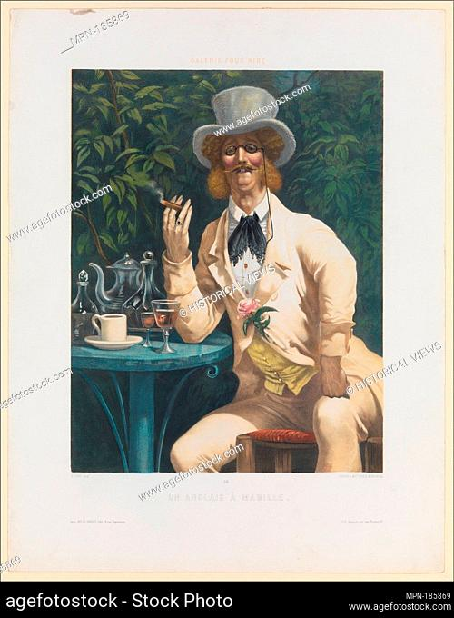 An Englishman at Mabille (Un Anglais à Mabille), from Galerie pour Rire, no. 34. Artist: After Gustave Doré (French, Strasbourg 1832-1883 Paris); Artist: Joseph...