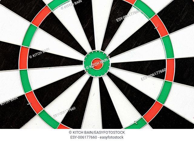 A close up shot of a Dart Board
