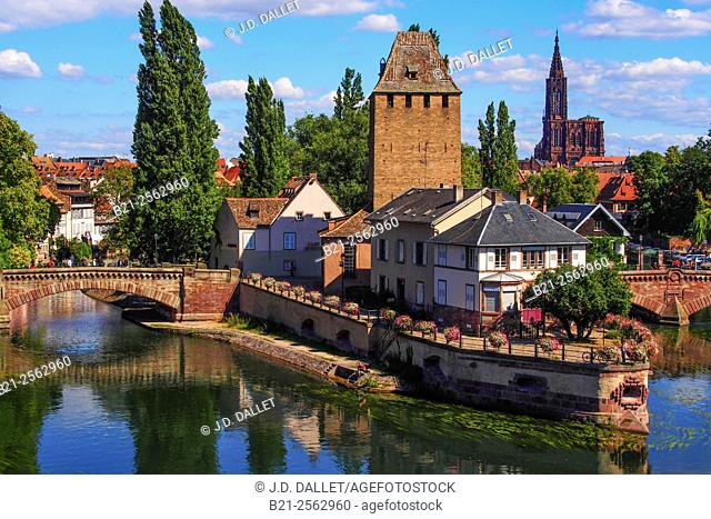 Ponts Couverts and Petite France district, Strasbourg, Bas-Rhin, Alsace, France