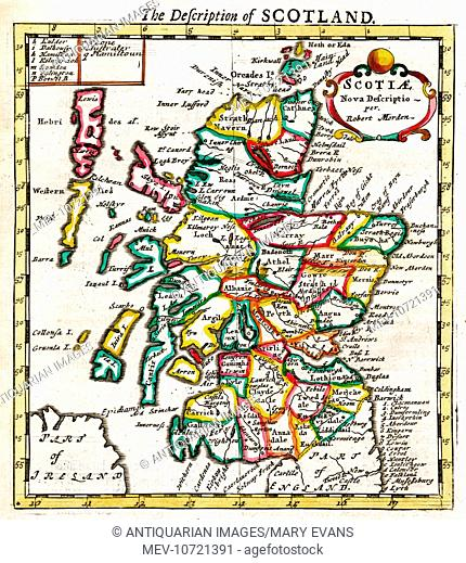 17th century Map of Scotland
