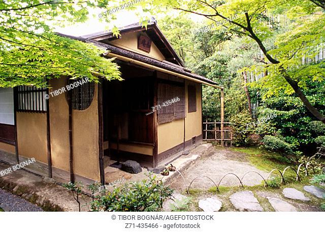 Joan teahouse built in 1618, Uraku-En garden. Inuyama. Central Honshu, Japan