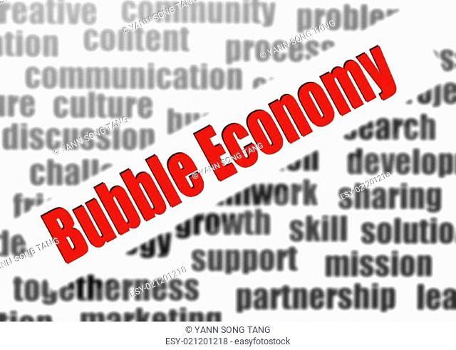 Bubble economy word cloud