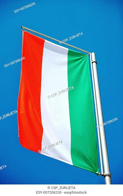 Flag on wind
