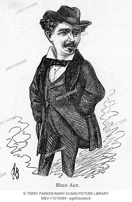 Caricature of the actor and dancer Fred (Frederick Mortimer) Vokes, member of the Vokes Family of performers -- High Art