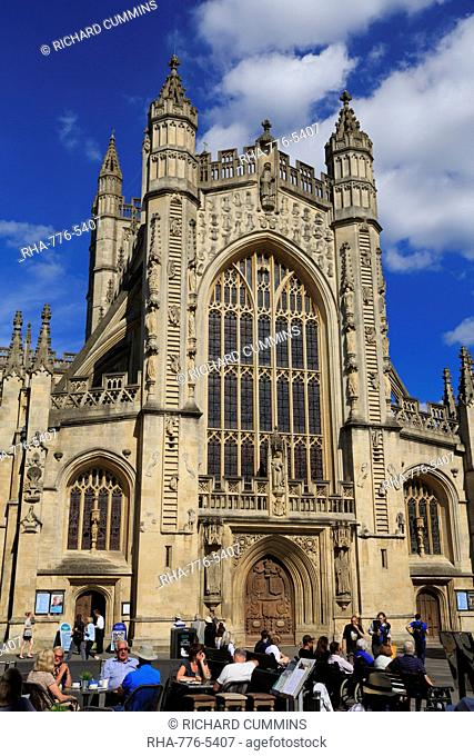 Bath Abbey, City of Bath, UNESCO World Heritage Site, Somerset, England, United Kingdom, Europe