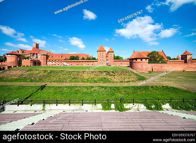 The Malbork Castle (Marienburg), Teutonic Order medieval fortress, Poland