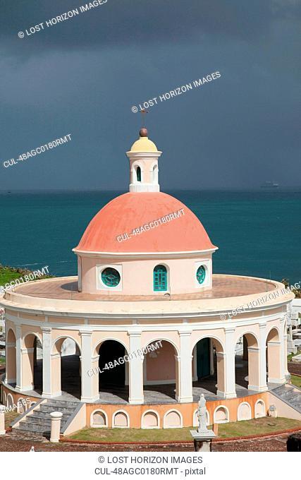 Ornate dome overlooking ocean