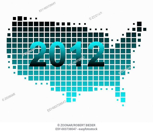 Karte der USA 2012