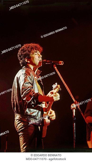 The singer-songwriter Edoardo Bennato in concert. Italy, 1984