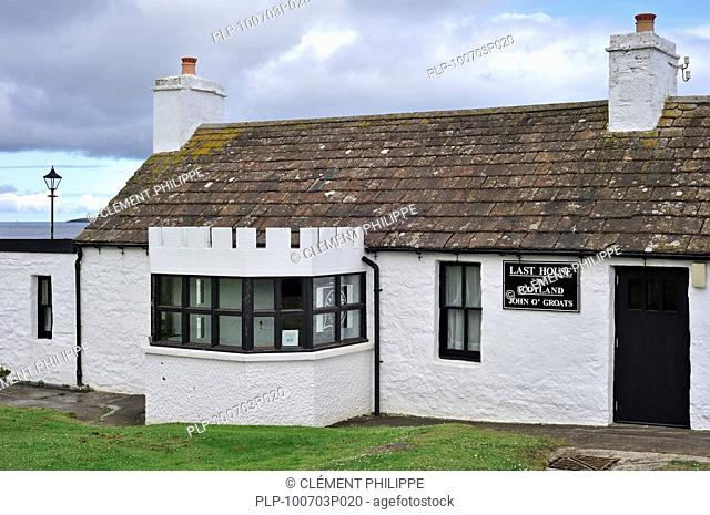 The last house on mainland Scotland at John o'' Groats, Highlands, Caithness, UK
