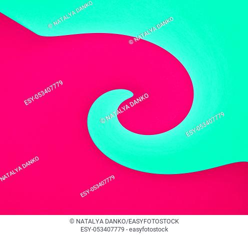 abstract red-green background with curved shapes