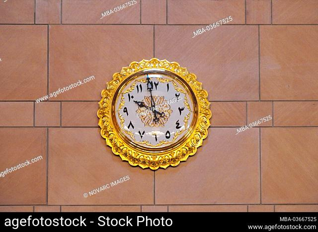 Prayer clock, Sultan Qaboos Mosque, Grand Mosque, Muscat, Muscat, Sultanate of Oman, Middle East