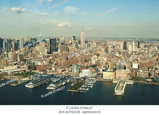 Aerial view of Manhattan. New York City, New York