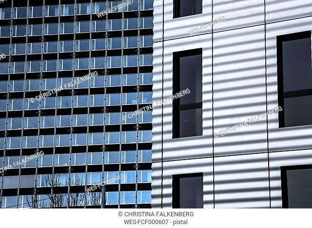 Switzerland, Basel, University, glass facade
