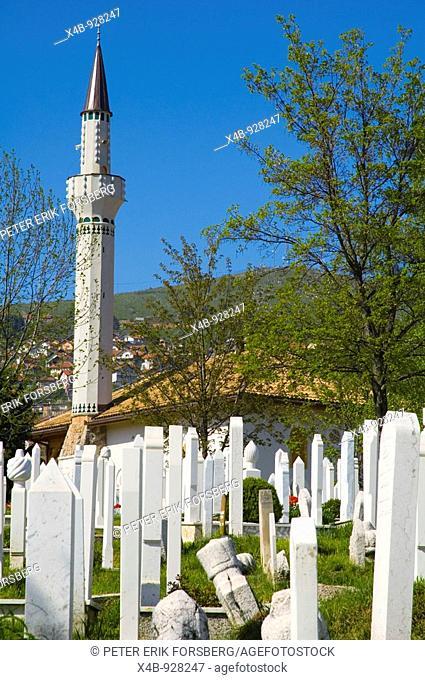 Cemetery in Kosevo district of Sarajevo Bosnia Herzegovina Europe