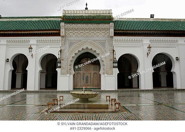 North Africa, Morocco, City of Fez Fes, Medina, famous al-Qarawiyyin or al-Karaouine mosque and university