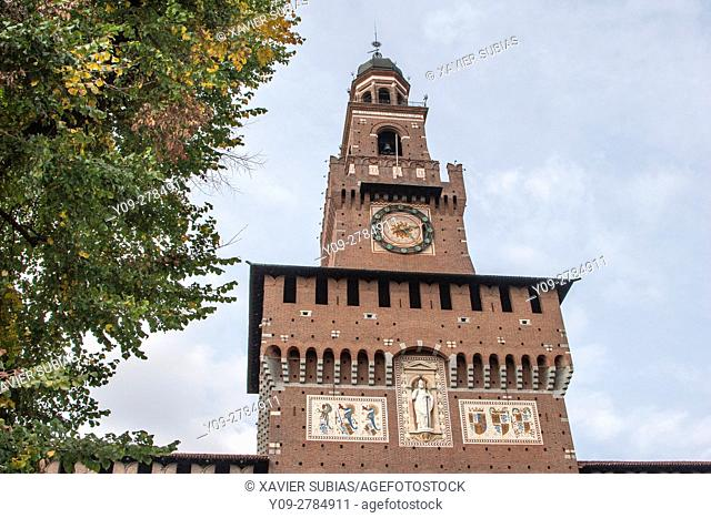 Castello Sforzesco (Sforza's Castle), Milan, Lombardy, Italy