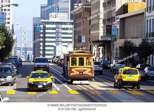 Cable Car,San Francisco, California, USA