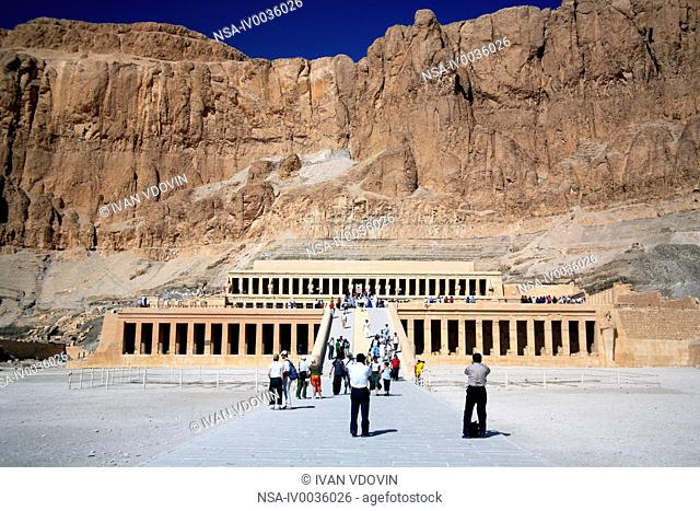 Mortuary Temple of Hatshepsut, Deir el-Bahari, Luxor West bank, Egypt