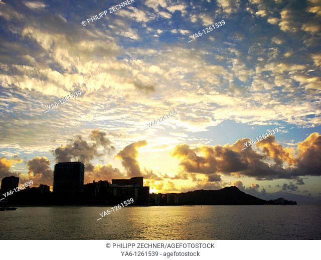 Sunrise over Waikiki, Honolulu