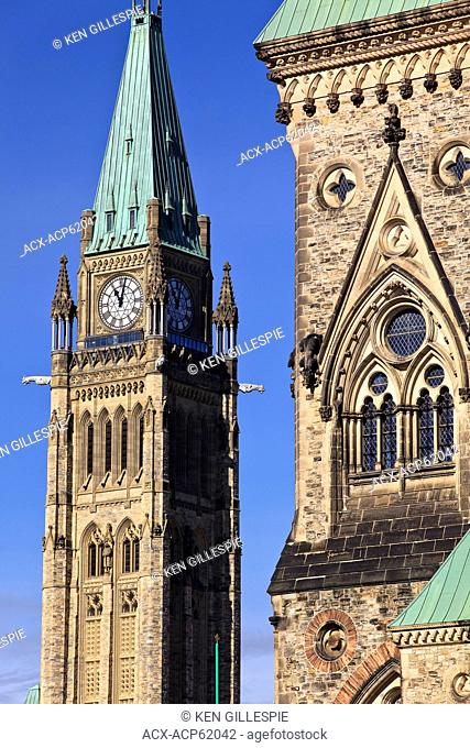 Peace Tower, Canadian Parliament Buildings, Ottawa, Ontario, Canada