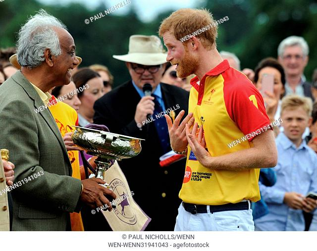 Prince Harry and Prince William play in the Jerudong Park Trophy Polo Featuring: Prince Harry Where: Oxford, United Kingdom When: 15 Jul 2017 Credit: Paul...