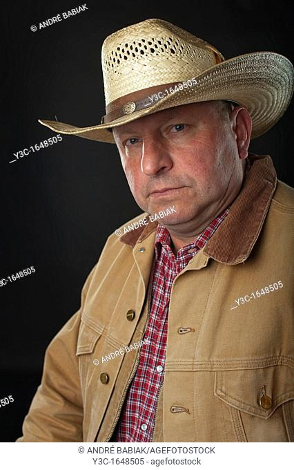 Portrait of old rancher