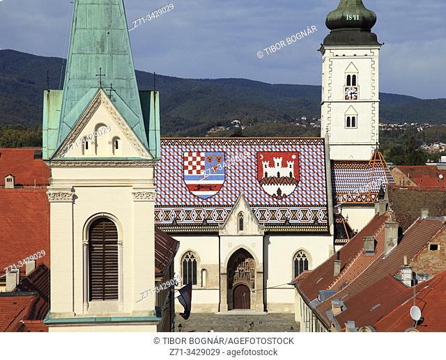 Croatia, Zagreb, Upper Town, St Mark Church, Greek Catholic Church