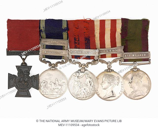 Victoria Cross, 1858. From a medal group awarded to Gen Sir Sam Browne for his action on the 31st August 1858, at Seerpore during the Indian Mutiny (1857-1859)