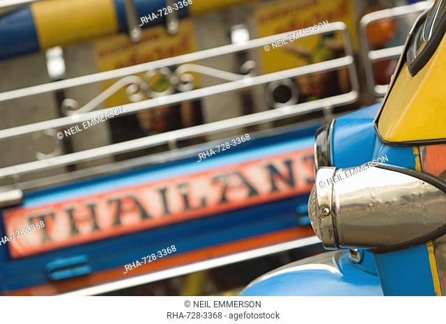 Close-up of side of a tuk-tuk, Thailand, Southeast Asia, Asia