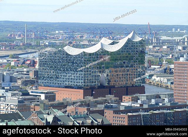 Blick Elbphilharmonie, Hamburg, Germany, Europe