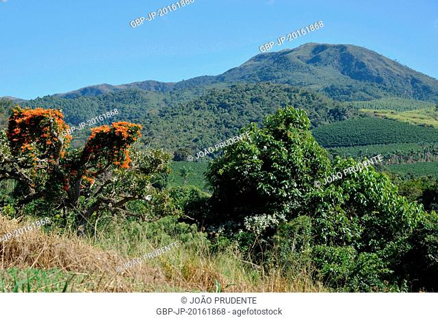 Panoramic view of the State Park of the Good Hope Mountain, Boa Esperança, Minas Gerais, Brazil, 06.2015