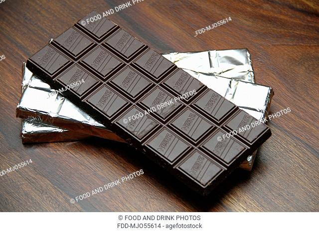 Selection of chocolate in silver foil