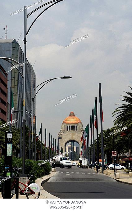 Paseo de la Reforma avenue buildings