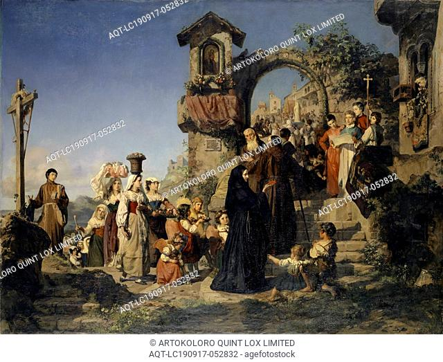 Marientag in the Sabinergebirge, 1860, oil on canvas, 149.5 x 198.5 cm, Signed and dated lower left: E. Stückelberg faciebat 1860