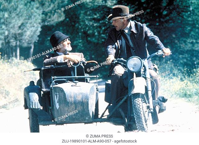 1989; Indiana Jones And The Last Crusade. Original Film Title: Indiana Jones And The Last Crusade, PICTURED: SEAN CONNERY, HARRISON FORD