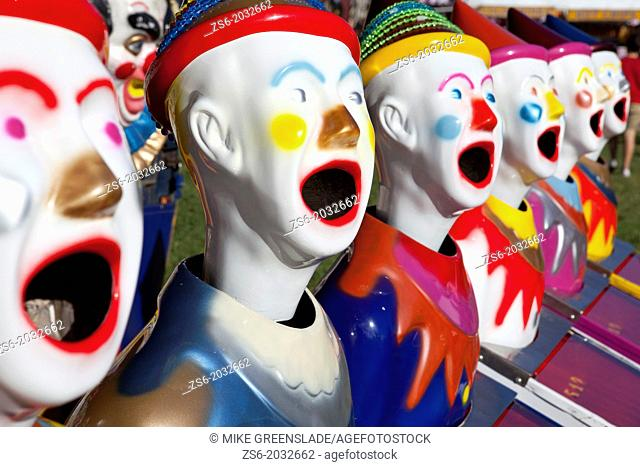 Fairground clowns, Bellengen, NSW, Australia