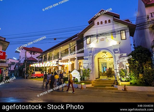 Ratchapakhinai and Ratchamanka Roads, old town, Chiang Mai, Thailand